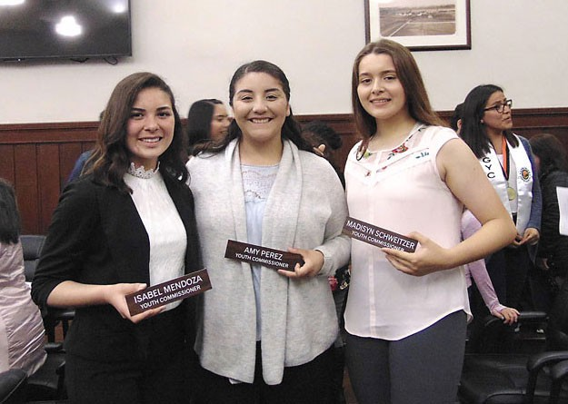 Gonzales Youth Council members honored